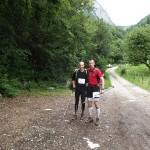 JL et moi au pied de la descente de la Rosière