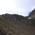 Sandrine et Céline à la montée vers le Trou de la Mouche