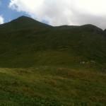 la montée vers le Grand Col Ferret depuis le refuge Elena