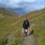 les derniers mètres avant le Grand Col Ferret